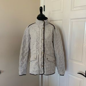 Montanaco Cream and Brown Coat Size Large